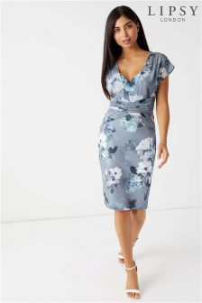 Lipsy Alana Print Structured Bodycon Dress