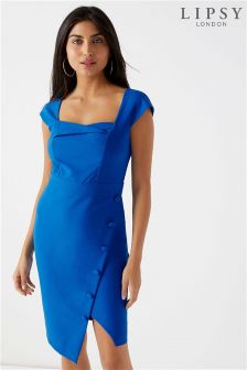 Lipsy Square Neck Wrap Bodycon Dress