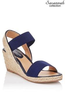 Sandale espadrile Savannah Collection cu barete elastice