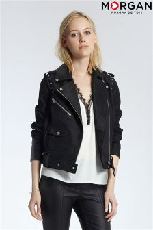 Morgan Leather Biker Jacket