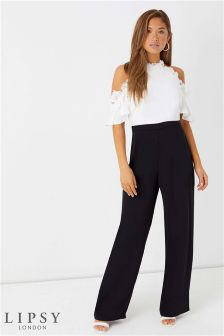 Lipsy Lace Top Halter Jumpsuit