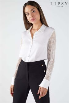 Lipsy Lace Sleeve Shirt