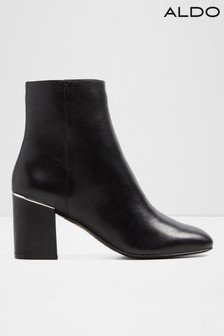 Aldo Ladies Square Toe Block Heel Ankle Boot