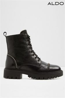 Aldo Ladies Lace Up Biker Boot
