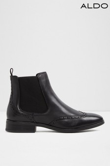 Aldo Brogue Chelsea Flat Boot