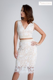 The Girl Code Lace Co-ord Mini Skirt