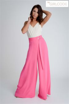 The Girl Code Wide Leg Trousers