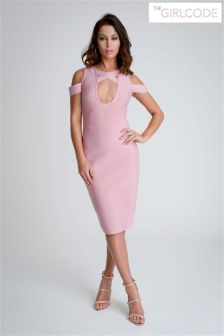 The Girl Code Bandage Cross Front Dress