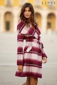 Lipsy Check Wrap Coat