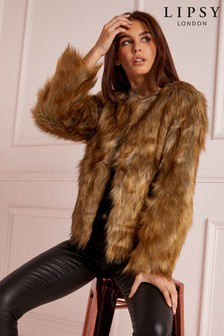 Lipsy Faux Fur Short Coat
