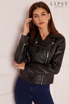 Lipsy Essential Faux Leather Biker Jacket