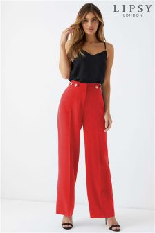 Lipsy Military High Waisted Trousers