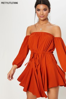 PrettyLittleThing Bardot Mini Dress