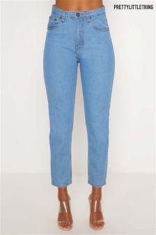 PrettyLittleThing Straight Fit Light Wash Jeans