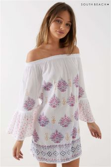 South Beach Flared Sleeves Printed Kaftan