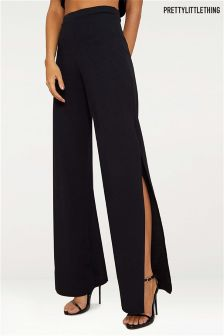 PrettyLittleThing Split Detail Wide Leg Trouser