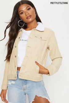 PrettyLittleThing Lined Cord Jacket