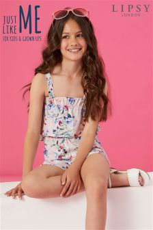 Lipsy Girl Imogen Printed Playsuit
