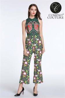 Comino Couture Print Flamingo Jumpsuit