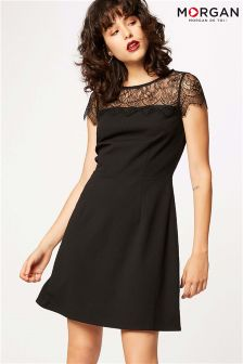 Morgan Lace Insert Skater Dress
