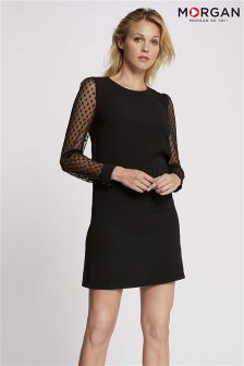 Morgan Sheer Sleeve Shift Dress