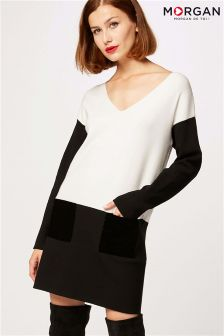 Morgan Colour Block Knitted Dress