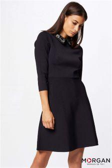 Morgan Embellished Collar Dress