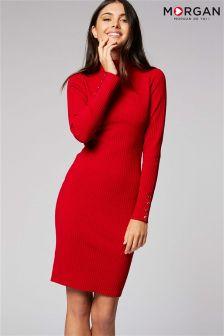 Morgan Roll Neck Midi Dress