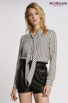 Morgan Pussbow Stripe Shirt