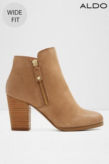 Aldo Wide Fit Leather Ankle Boot