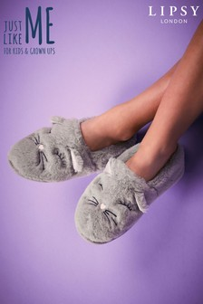 Lipsy Girl Fluffy Cat Slipper