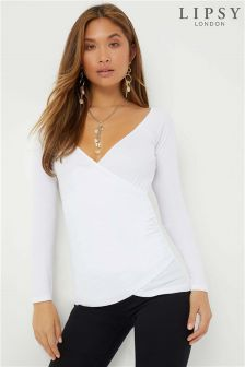 Lipsy Off Shoulder Rib Top