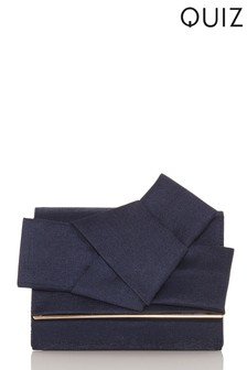 Quiz Bow Clutch Bag