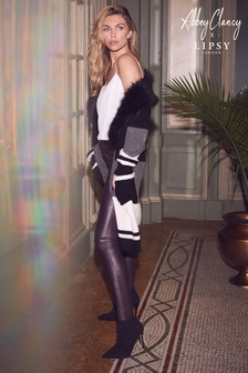 Abbey Clancy x Lipsy Faux Fur Collar Longline Cardigan