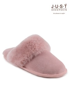 Just Sheepskin Cuff Mules