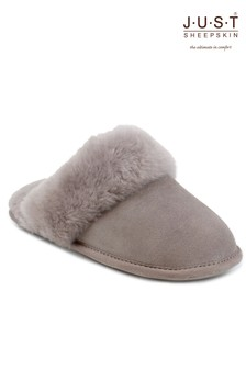 Just Sheepskin Cuff Mules Slippers