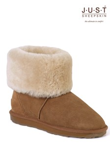 Just Sheepskin Roll Cuff Boots