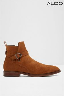 Aldo Suede Chelsea Leather Boots