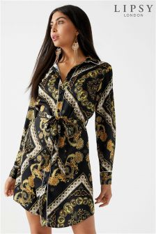 Lipsy Cindy Chain Print Shirt Dress