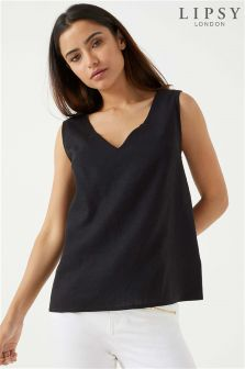 Lipsy Linen V neck Tank Top