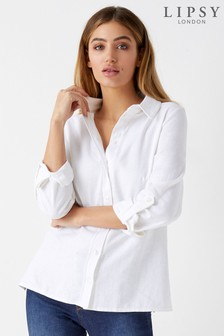 Lipsy Linen Blend Shirt