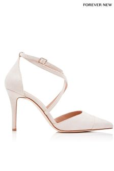 Forever New Pointed Cross Strap Court Shoes
