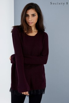 Society 8 Lace Hem Jumper
