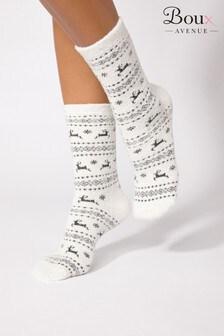 Boux Avenue Christmas Fairisle Reindeer Socks