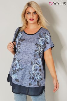 Yours Floral Chiffon Tee