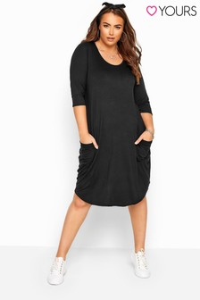 Yours Curve Drape Pocket Dress