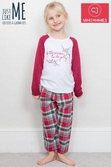 Minijammies Holly 'Tis The Season Schlafanzug mit Aufdruck