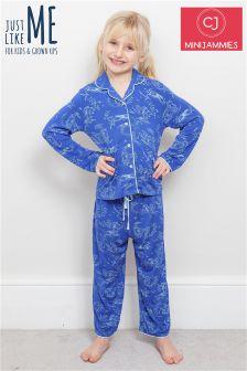 Minijammies Woodland印花针织睡衣套装