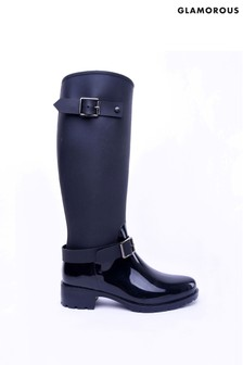 Glamorous Buckle Knee High Boots