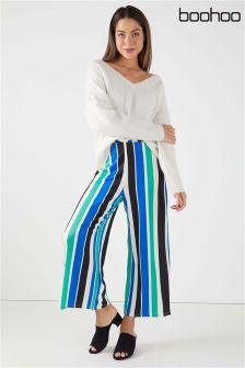 Boohoo Stripe Culotte Trousers
